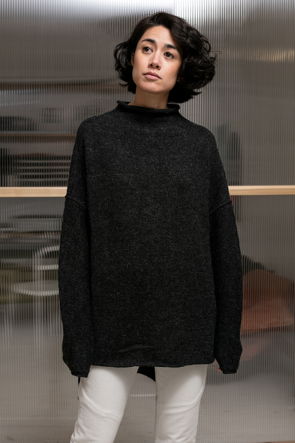 Lauren Manoogian Oversized Rollneck - charcoal