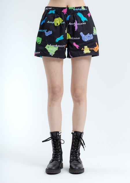 Ann Andelman Polar Bear Shorts - Black Multicolor