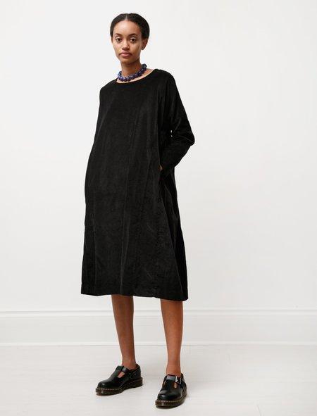 Casey Casey Womens Pyj Rouch velvet Dress - Black
