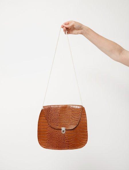 Camiel Fortgens Leather Shoulder Bag - Snake Print