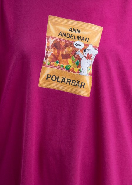 Ann Andelman Gummy Bear T-Shirt - wine