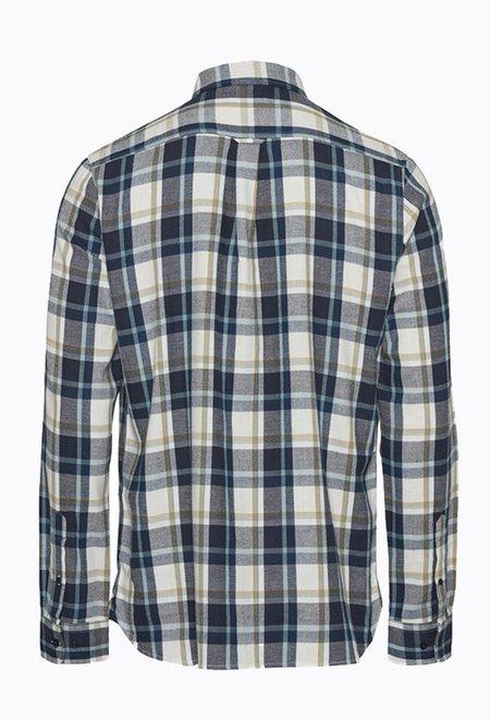 Knowledge Cotton ELDER Checked Shirt - Total Eclipse