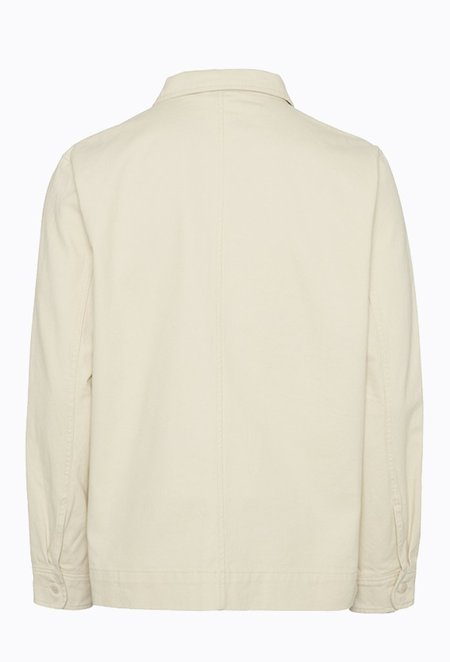 Knowledge Cotton PINE Heavy Twill Overshirt - Winter White