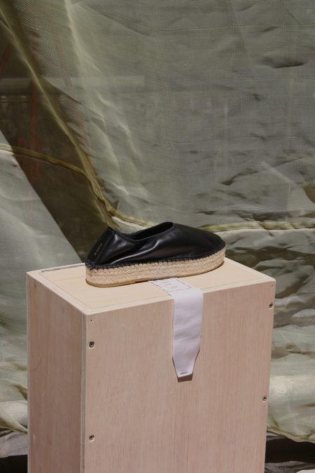 ACT SERIES Edvard DS Leather Espadrilles - BLACK