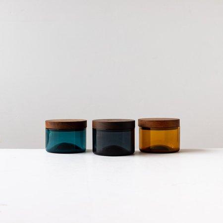 A + J Métissage Hand-blown Salt Cellar With Black Walnut Cover