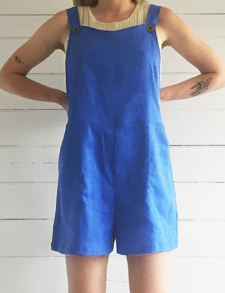 Erin Templeton Overall Shorts - Cobalt