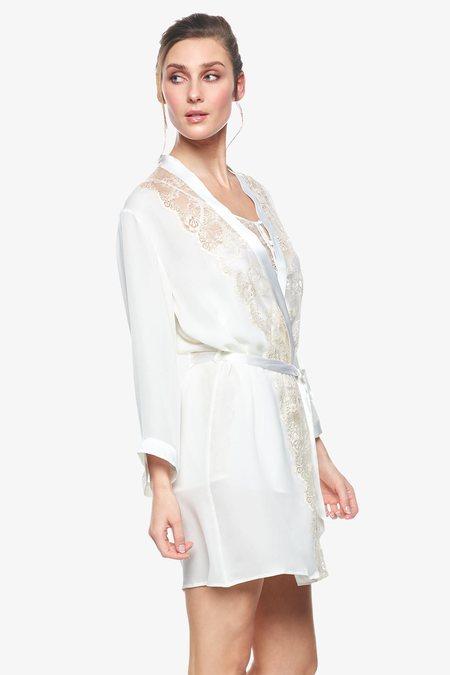 nk imode Cordelia Bridal Short Robe - Pearl White