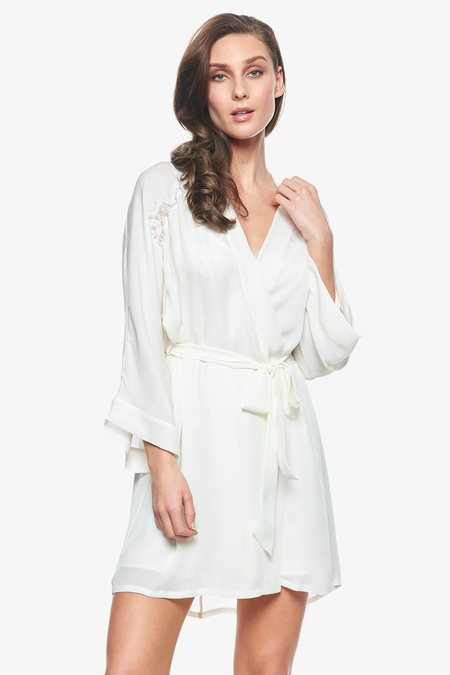 NK IMODE Sigrid Short Robe - Pearl White