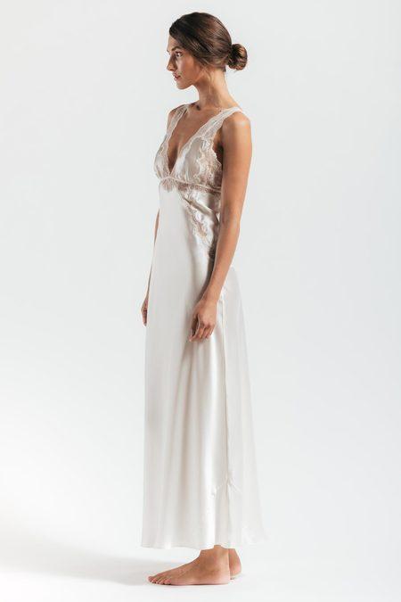 NK IMODE Thalassa Heirloom Long Silk Gown - IVORY