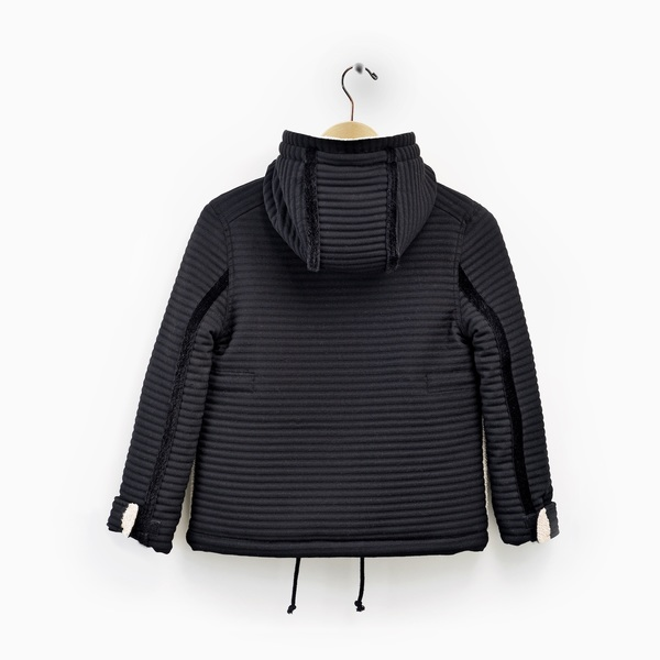 Andorine Multi-Colored Hood Coat