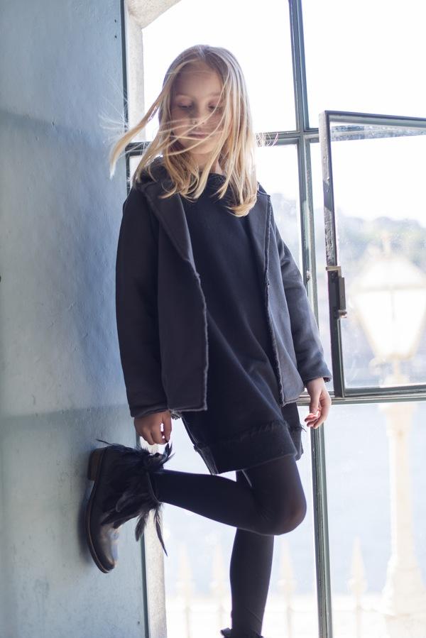 Andorine Black Sweat Dress