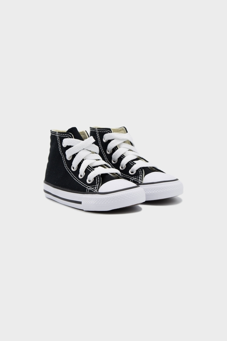 Kids Converse All Stars High Top Sneaker - Black/White