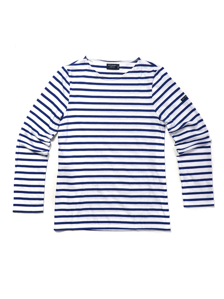 Saint James MINQUIERS MODERN LONG SLEEVE - NEIGE/GIT