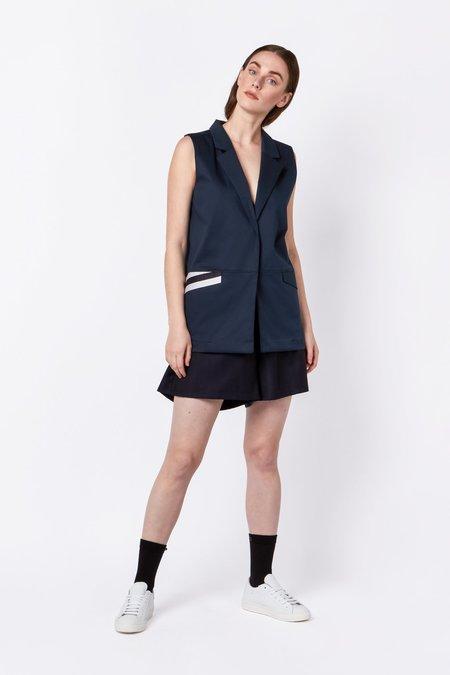 Elsien Gringhuis Wool Shorts - Navy