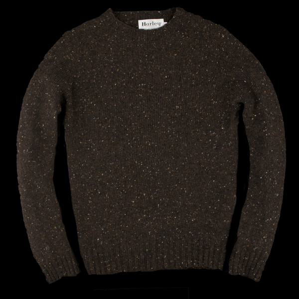 Harley of Scotland Donegal Merino Wool Pullover