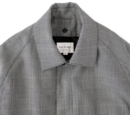 Still By Hand Bal Collar Coat - Original Check