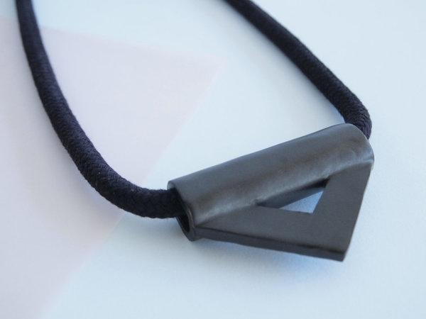 YYY black triangle necklace