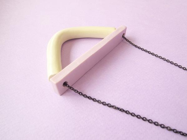YYY bent half moon necklace