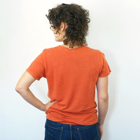 Jungmaven Lorel Crew T Shirt - Burnt Orange