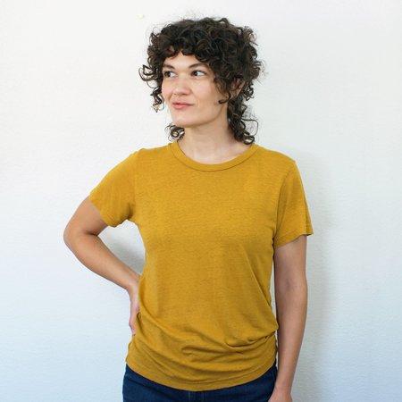 Jungmaven Lorel Crew T Shirt - Marigold