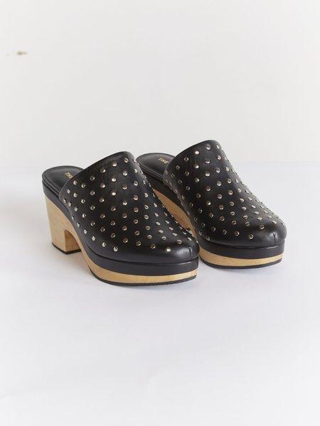 THE ODELLS Leather Stud Clog - NOIR