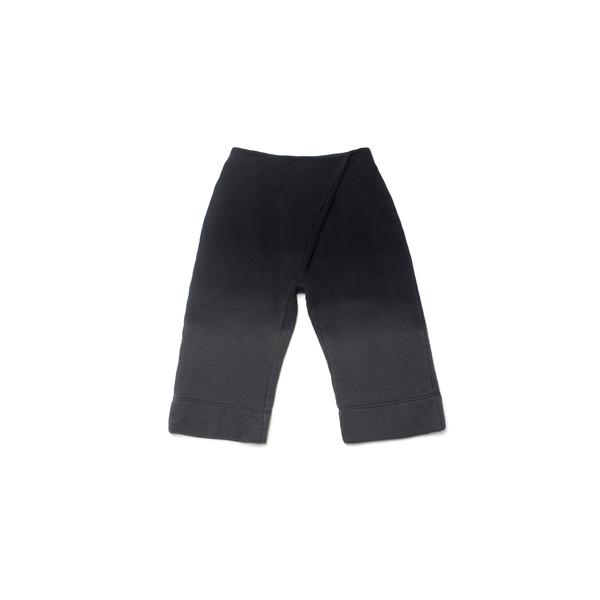 OMAMImini Black Pleated Wide-Leg Ombré Sweatpants