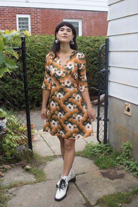 Meemoza Alexis Dress - Orange Lotus