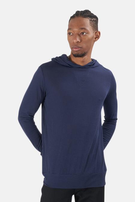 Blue&Cream 66 Pullover Hoodie Sweater - Navy