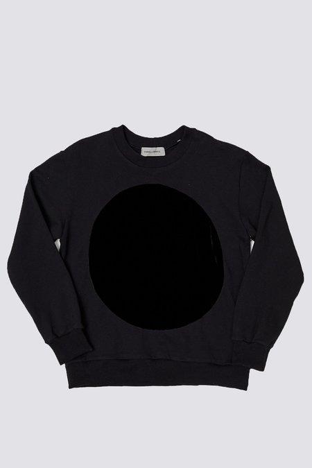 Unisex Correll Correll Velvet Circle Sweatshirt - Black