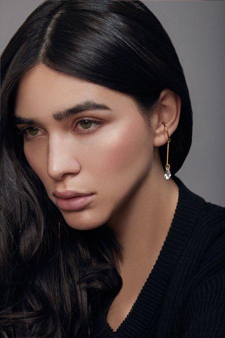 Joomi Lim Single Ear Cuff w/ Crystal Charm