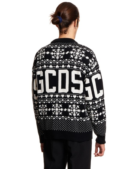 GCDS Sweater with Embroidery - Black