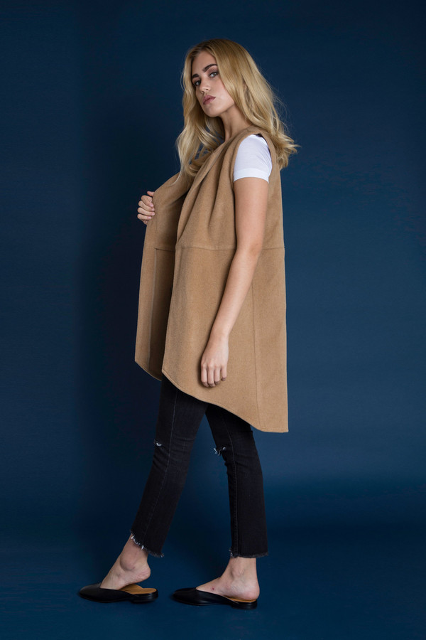 BETWEEN TEN Kevina Wool Vest - Camel