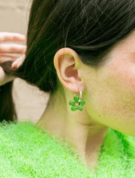 Brooke Callahan Daisy Earrings - Green
