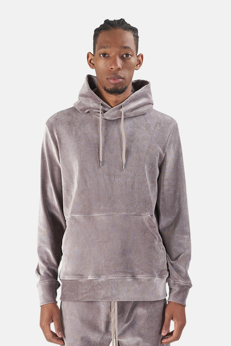 Wheelers.V Bowery Velour Cord Hoodie Sweater - Taupe