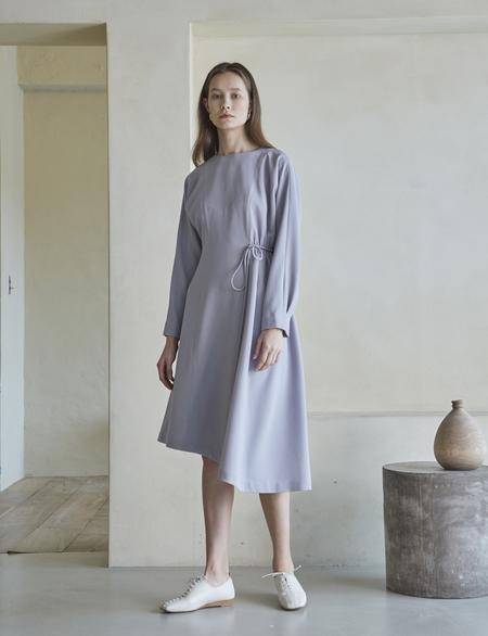 Maison De Ines Unbalanced String Dress - Gray