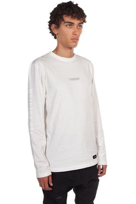 Tobias Birk Nielsen Printed Long Sleeve T-Shirt - Off White
