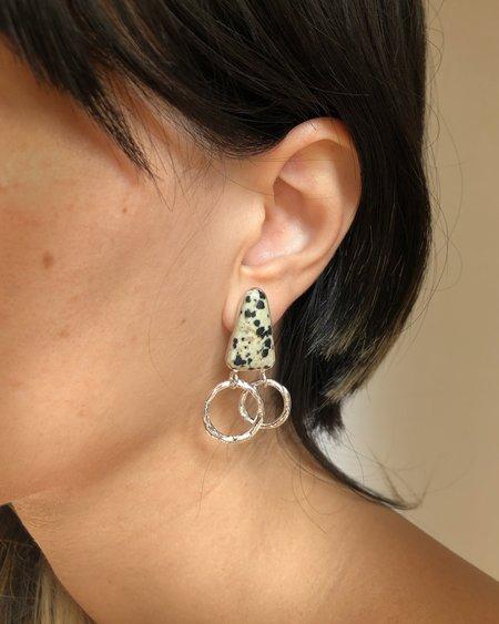 Ora-C GINA WITH DALMATIAN JASPER earrings