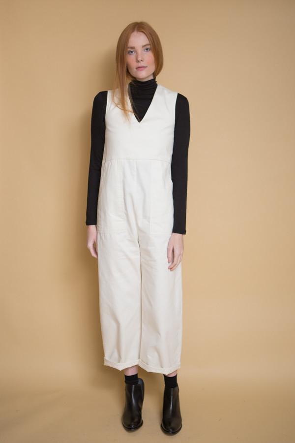Micaela Greg Utility Jumpsuit / Cream