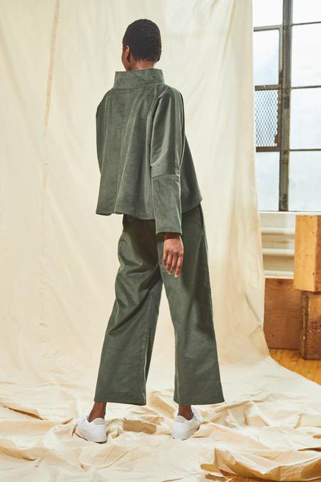 Devlyn Van Loon Corduroy Straight Leg Pant - Sage Grey