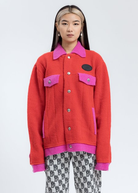 we11done Felted Knitted Jacket - Red
