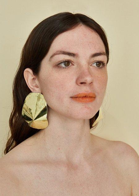 JULIE THÉVENOT ARAPED LARGE EARRINGS - Gold Brass