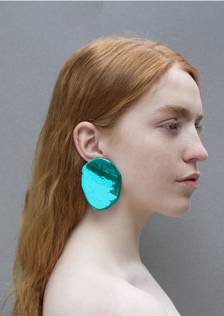 JULIE THÉVENOT REFLECTION ELECTRIC EMROD EARRINGS - Sterling Silver/Lucite