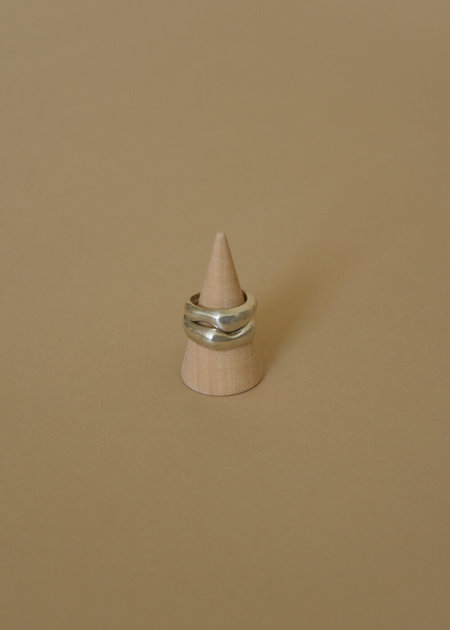Cashmere Cactus Everyday Stacker Water Ring - Sterling Silver