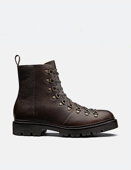 Grenson Brady Hiker Boot (Natural Grain) - Dark Brown