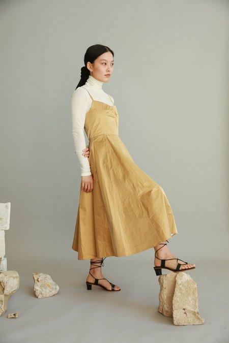 JOWA. Cafe noir Vegan Leather Tank Dress - Beige