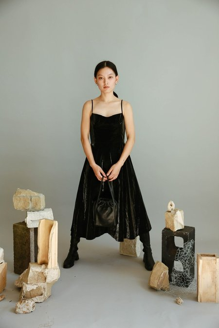 JOWA. Cafe noir Vegan Leather Tank Dress - Black