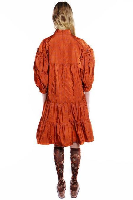Anna Sui Tossed Bouquet Jacquard Dress