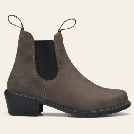 Blundstone Elastic Sided Heeled Boots - Rustic Brown