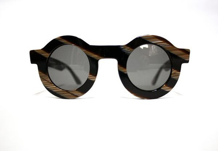 Carla Colour Black Horn Circle Sunglasses