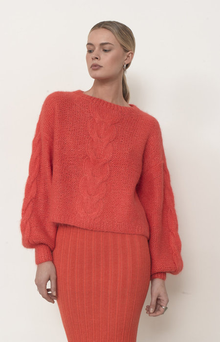 ELEVEN SIX AVA SKIRT - HOT CORAL